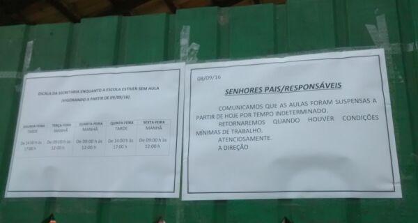Escola Luis Lindenberg fica sem aulas