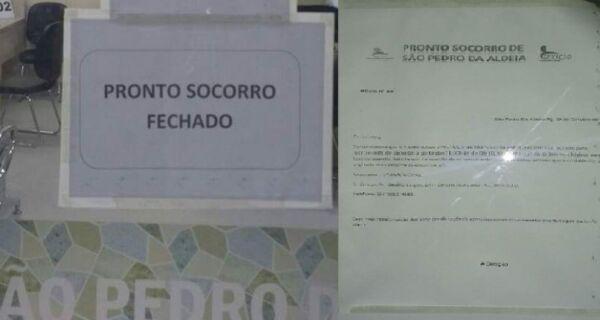 Depois de fechamento temporário, Pronto Socorro de São Pedro funciona normalmente