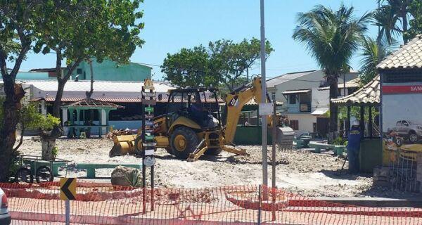 Prefeitura de Arraial garante Praça do Cova pronta antes do verão