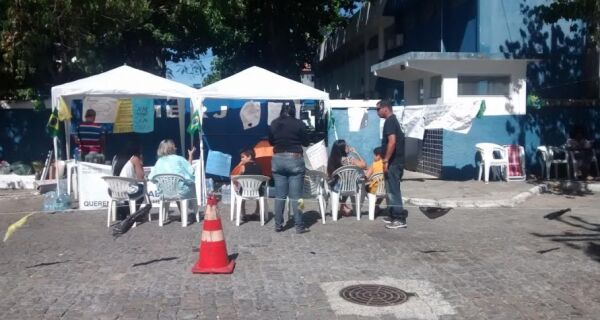 Ação na Ogiva cria atrito entre comandante e manifestantes