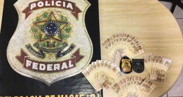 Polícia Federal prende duas pessoas com R$ 1,8 mil em notas falsas em Búzios