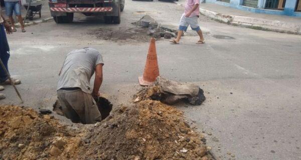 Prefeitura faz reparo nas ruas de Cabo Frio