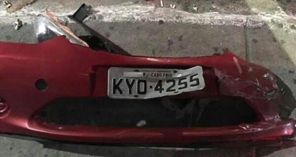 Polícia afirma que carro que atropelou motociclista no Centro é do surfista Victor Ribas
