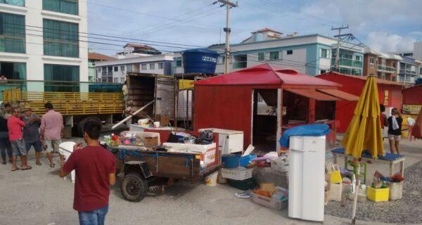 Prefeitura de Arraial permite volta de barracas na Prainha