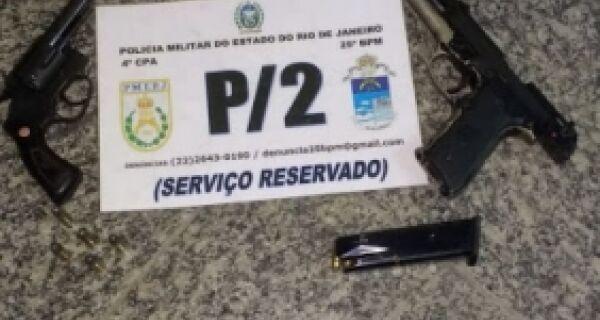 Polícia apreende armas na Ponta do Ambrósio, em São Pedro