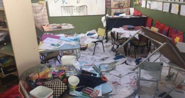Escolas são vandalizadas em Arraial