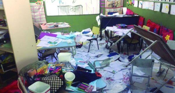 Arraial responde a vandalismo em escolas na cidade
