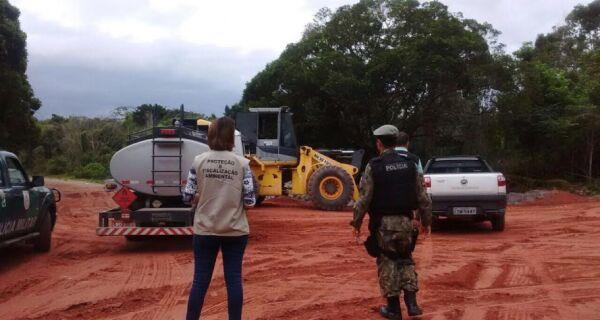 Empresa é multada em R$ 40 mil pela Prefeitura por terraplanagem irregular em Tamoios