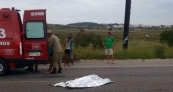 Ciclsita morre em acidente em São Pedro