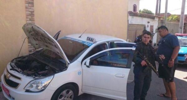 Táxi roubado é encontrado no Jardim Esperança