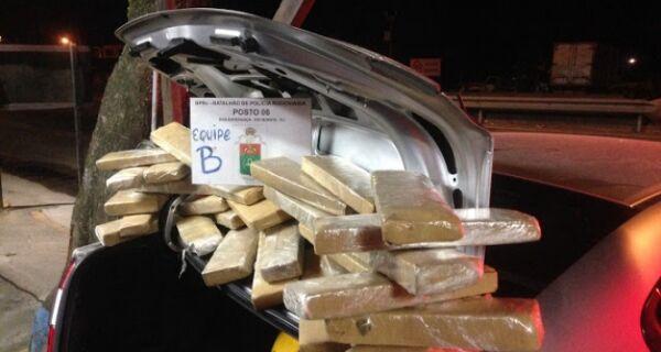 Polícia apreende 35 Kg de maconha que seriam levados para Búzios