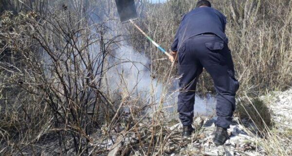 Guarda Marítima e Ambiental combate princípio de incêndio no Peró
