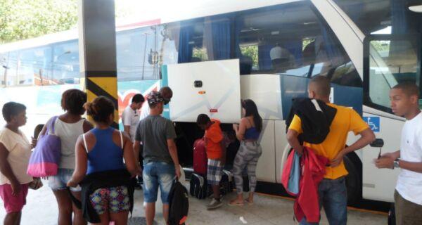 Região vai receber pelo menos 62 ônibus extras no feriadão