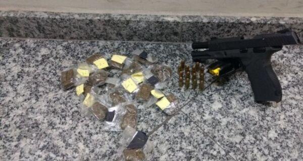 Homem é preso em Unamar com pistola de uso restrito