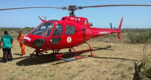 Helicóptero dos Bombeiros chega a Arraial do Cabo
