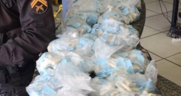 Polícia apreende mais de 2 mil cápsulas de cocaína na Estradinha