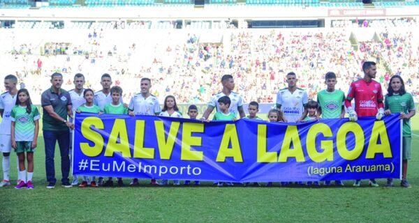 Cabofriense divulga 'salve a lagoa' no Maracanã