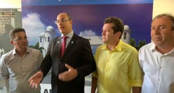 Durante visita a Arraial, Witzel descarta novo batalhão para PM na região