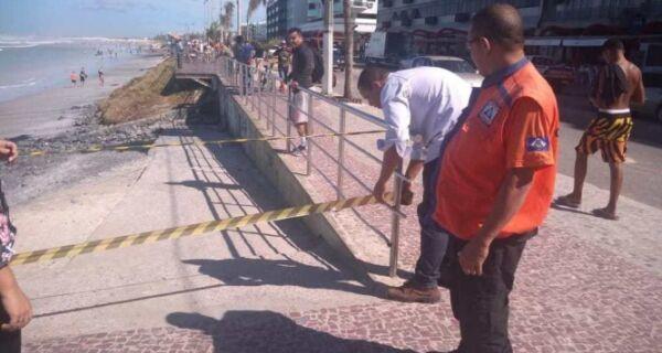 Defesa Civil vistoria áreas atingidas por ressaca em Cabo Frio