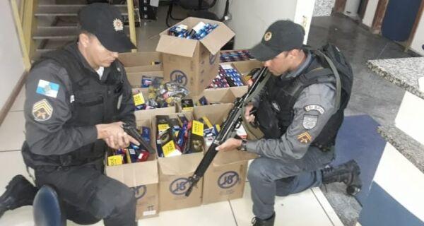 Polícia recupera carga de cigarros roubados no valor de R$59 mil