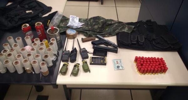 Polícia apreende 32 granadas na Boca do Mato