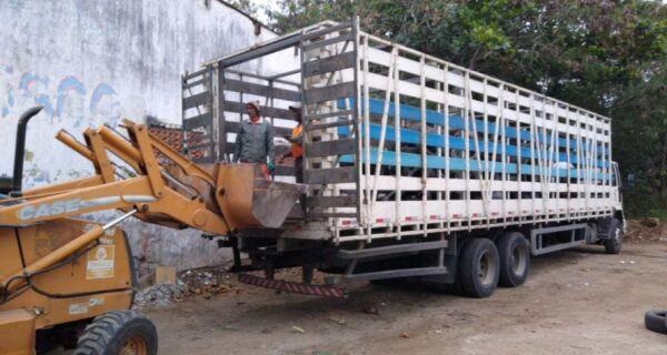 Comsercaf destina mais 9 toneladas de pneus para reciclagem