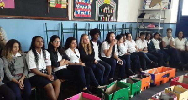 Estudantes do Ismar Gomes de Azevedo recebem projeto de cidadania, meio ambiente e legislação de trânsito