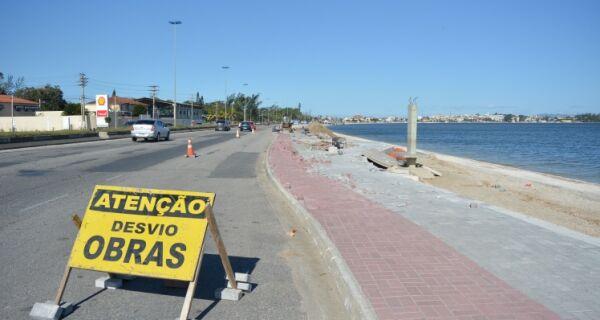 Obras da orla continuam em São Pedro da Aldeia