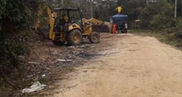 Prefeitura realiza limpeza no Parque Municipal do Mico Leão Dourado