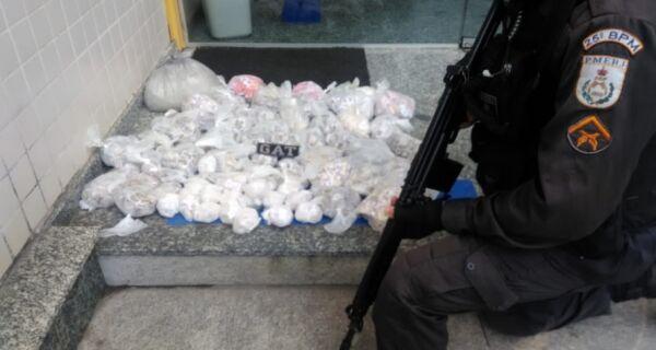 Polícia apreende R$ 73 mil em drogas no Morubá
