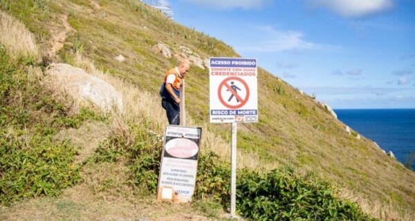 Acesso ao Lago do Amor, em Arraial, é interditado