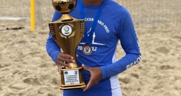 Cabofriense Douglas Rodrigues é convocado para Seleção Brasileira Sub20 de Beach Soccer