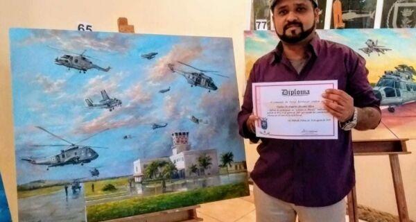 Artistas aldeenses são premiados em gincana de pintura da aviação naval