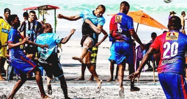 Domingo de muitos gols no futebol de praia de Cabo Frio