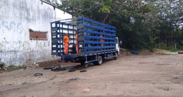 Prefeitura de Cabo Frio destina 4 toneladas de pneus para reciclagem