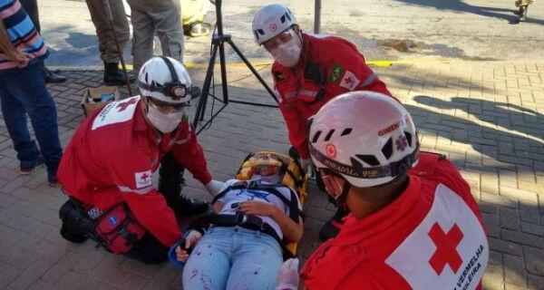 Cruz Vermelha promove oficina de resgate em São Pedro
