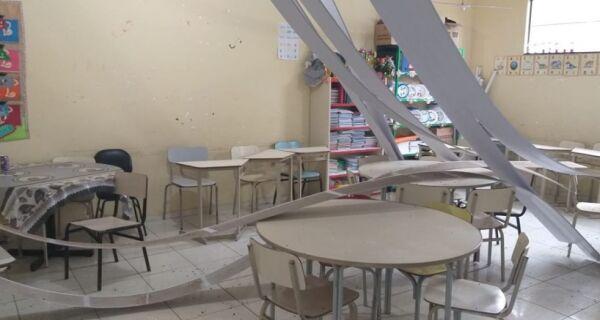 Escola de Cabo Frio fica sem aulas após queda de parte do teto