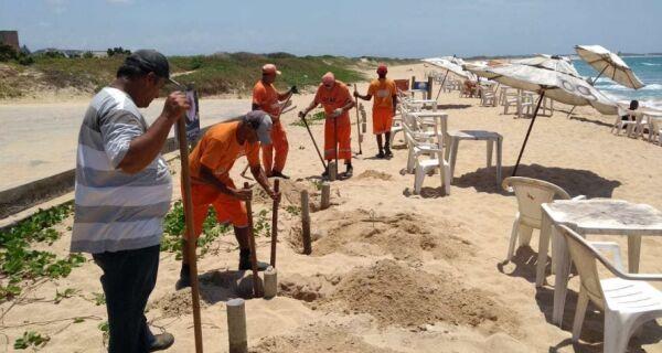 Prefeitura inicia adequações na Praia do Peró no trecho onde será hasteada a Bandeira Azul