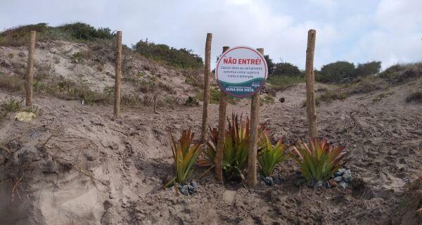 Prefeitura refaz cercamento da Duna Boa Vista