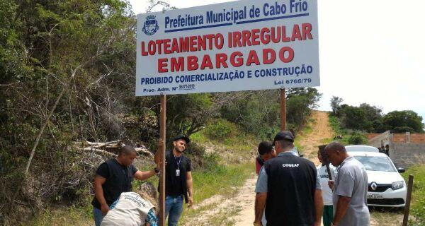 Ação conjunta embarga parcelamento irregular do solo no Monte Alegre, em Cabo Frio