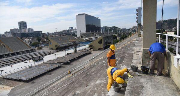 Obras no Sambódromo do Rio estão em ritmo acelerado