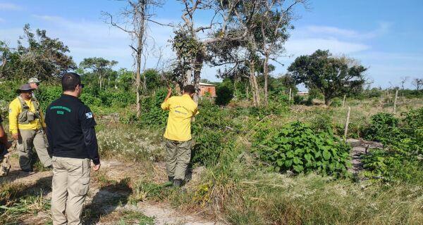 Inea desfaz lotes irregulares no bairro Caiçara, em Arraial do Cabo