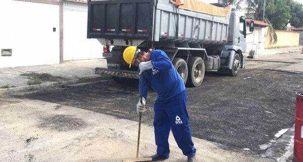 Prefeitura de Cabo Frio realiza operação tapa-buracos nesta terça-feira (21) no Portinho, Braga e Estradinha