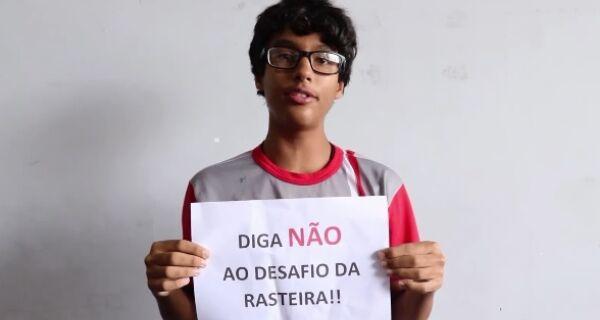 Educação de Arraial faz campanha contra 'desafio da rasteira'