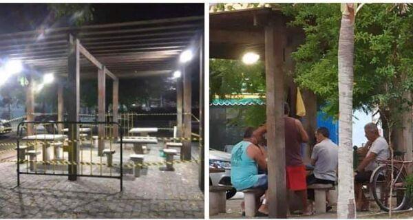 Praça que servia de distração para idosos em Arraial do Cabo é interditada por conta do coronavírus