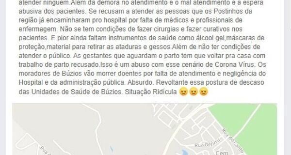 Ministério Público colhe novas denúncias em investigação sobre hospital de Búzios
