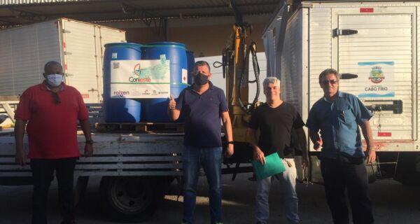 Cabo Frio recebe doação de álcool 70 para enfrentamento à Covid-19