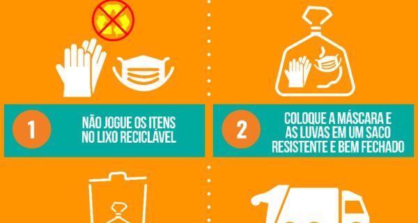 Comsercaf conscientiza população de Cabo Frio sobre o descarte correto das máscaras de higienização