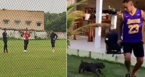 Goleiro Bruno já mora e treina futebol em Arraial do Cabo