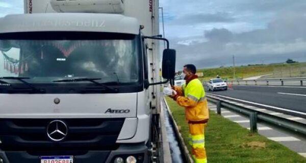 CCR ViaLagos oferece consultas médicas gratuitas para caminhoneiros sobre Covid-19